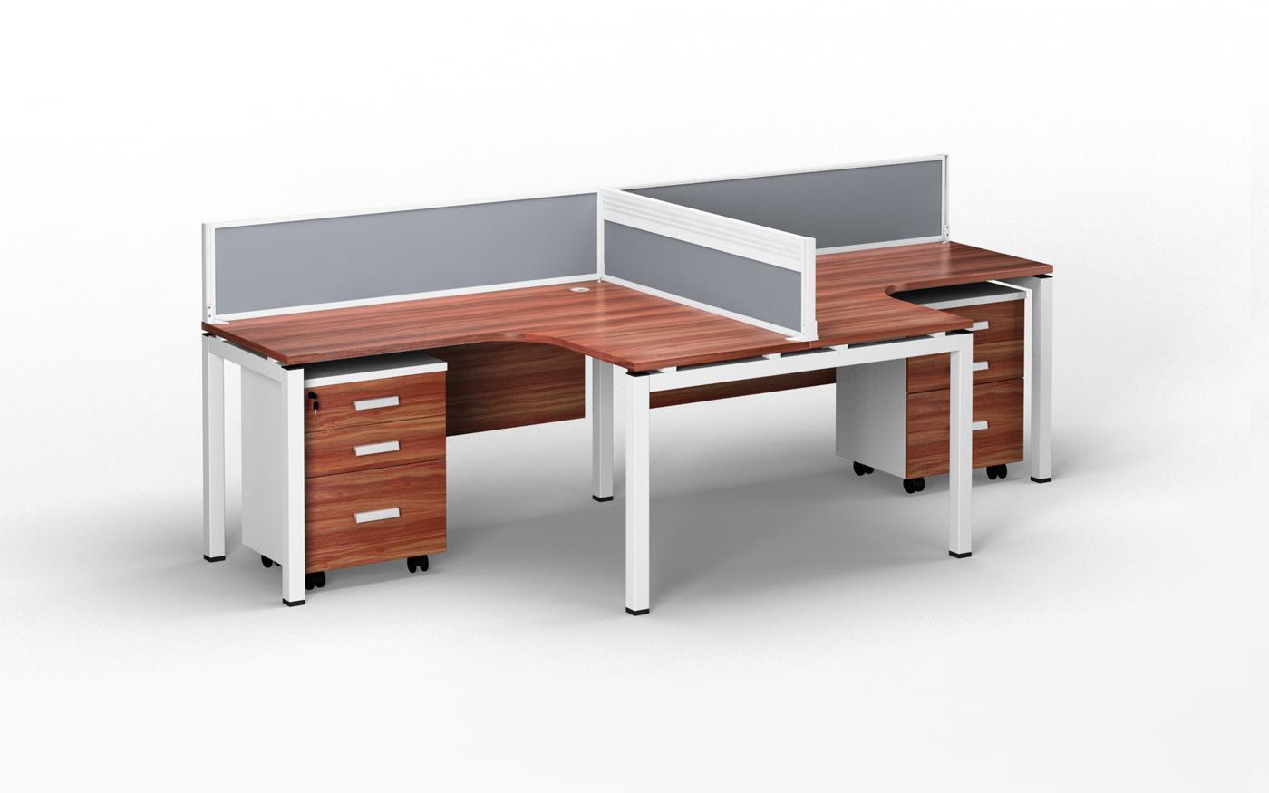 3D vizualizace kancelářského nábytku ainteriérů B2B Partner