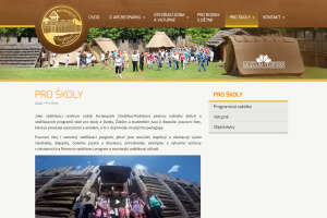 Archeopark Podobora, webová stránka, maskoti