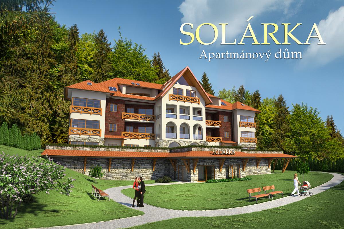 3D vizualizace rekonstrukce apartmánového domu Solárka na Ondřejníku