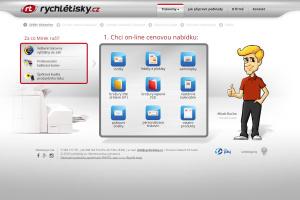 Rychlé Tisky, tvorba webu, tvorba maskota