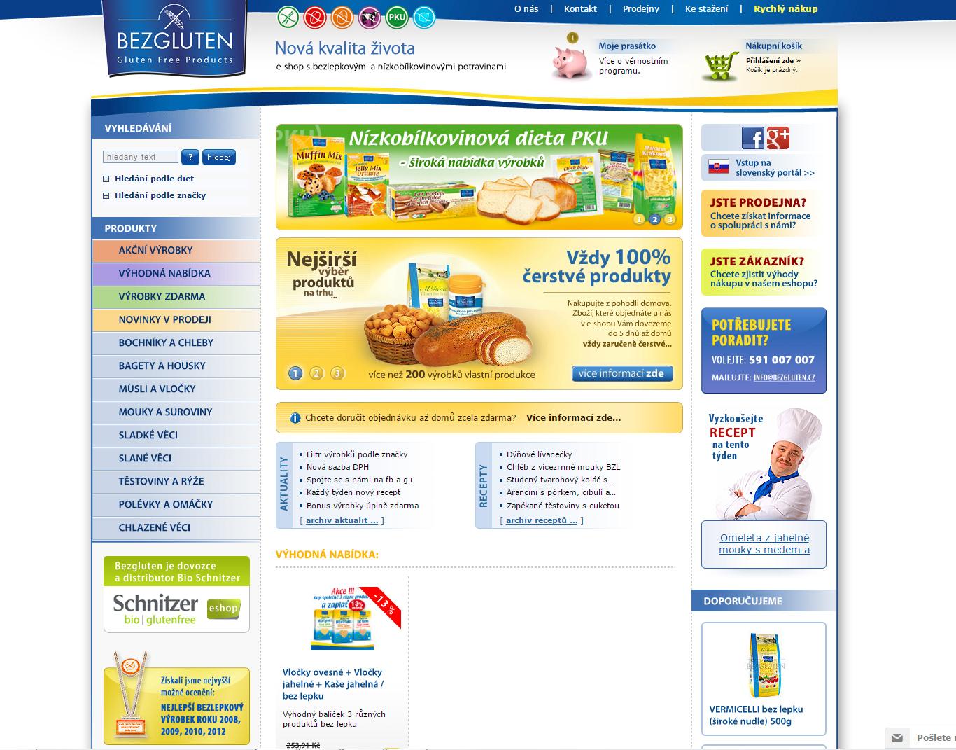 E-shop Bezgluten.cz