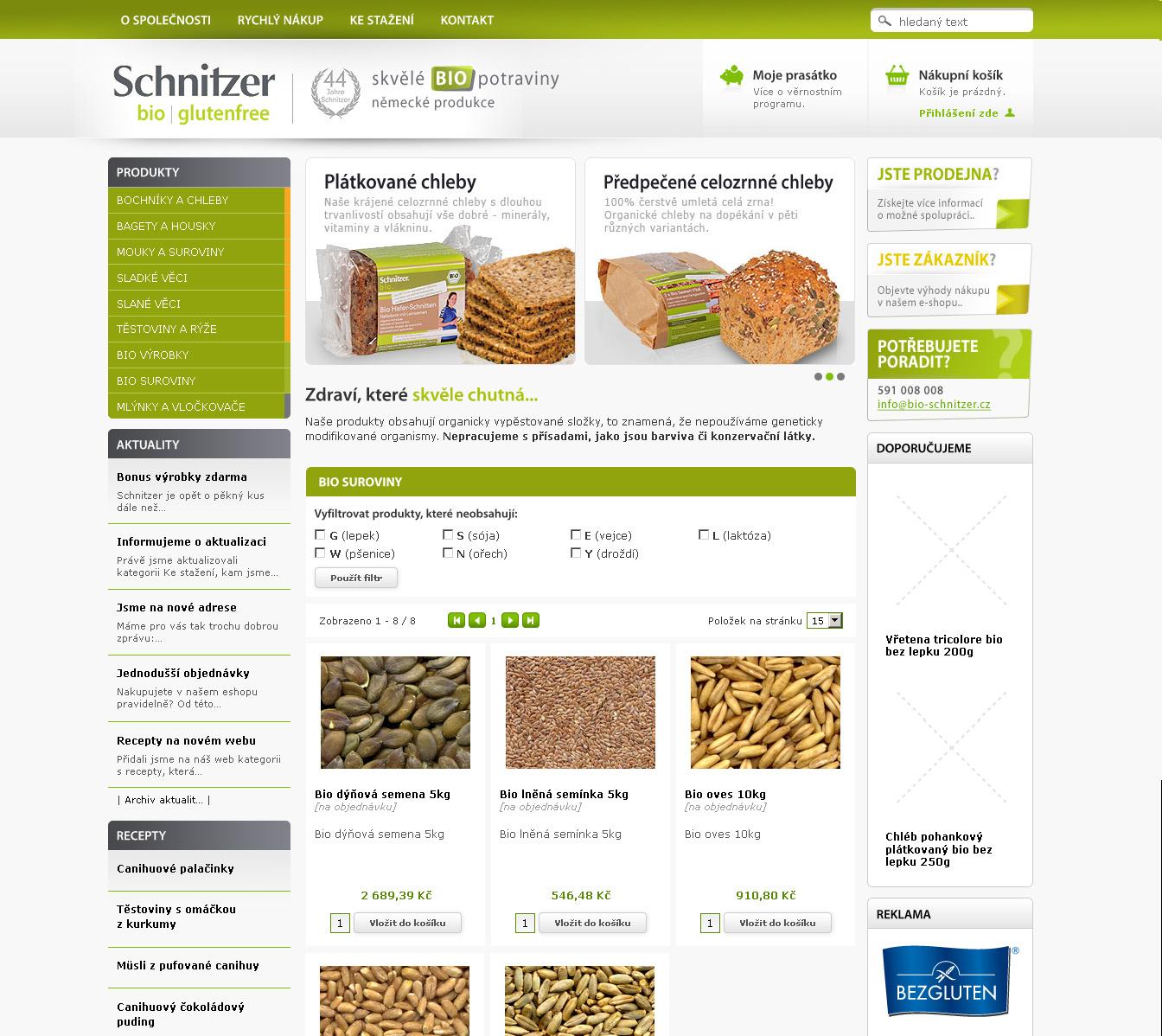 E-shop Bioschnitzer