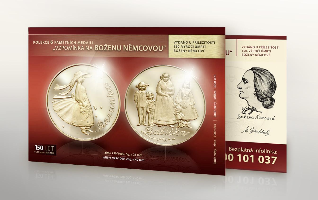 Leták – nabídka pamětních mincí Boženy Němcové