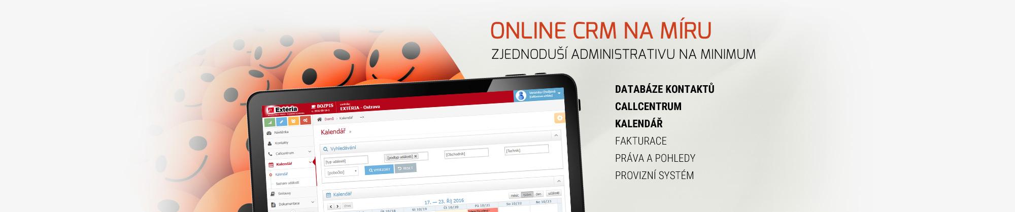 On-line CRM na míru