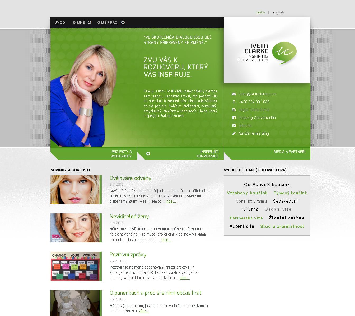 Profesní web Ivety Clarke
