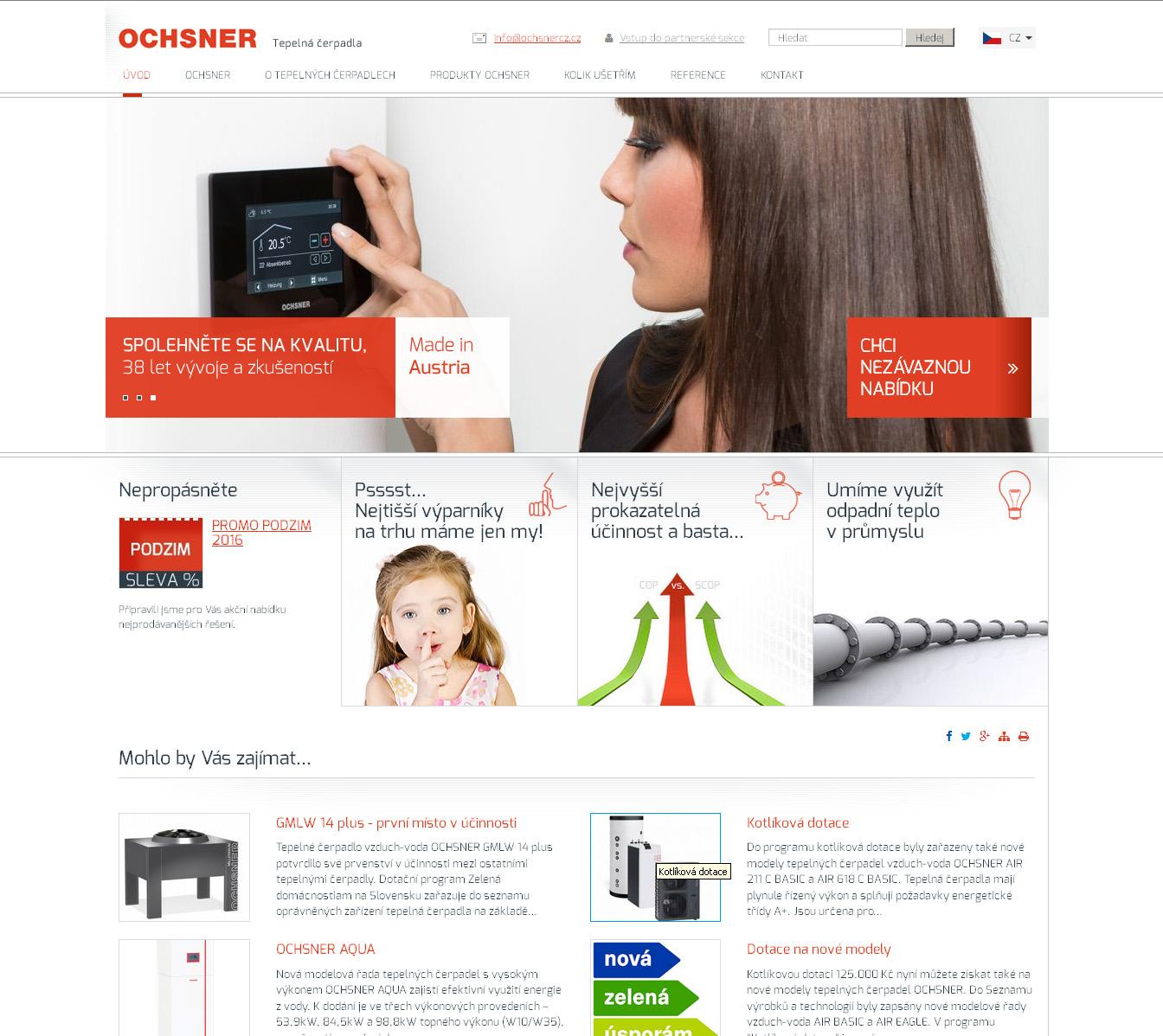 Webové stránky Ochsner.cz